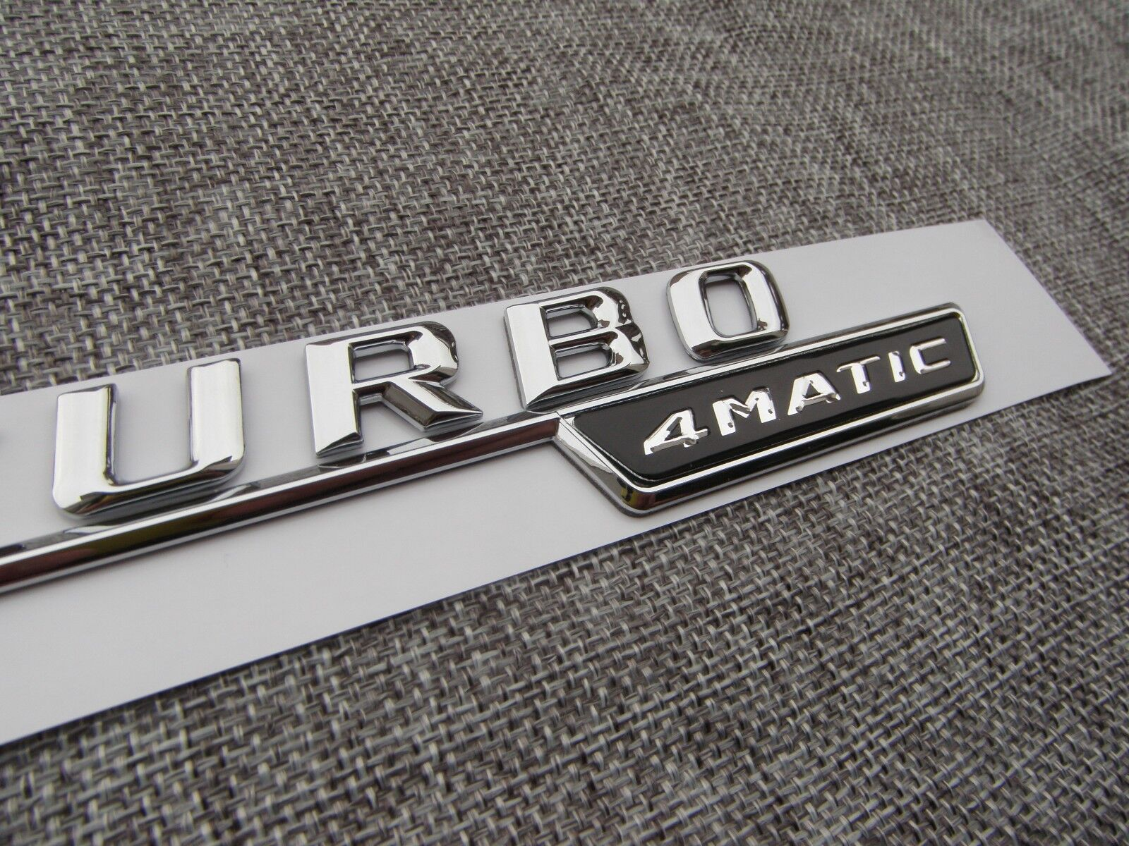 Chrome biturbo 4matic letters trunk emblem sticker for Mercedes benz trunk emblem