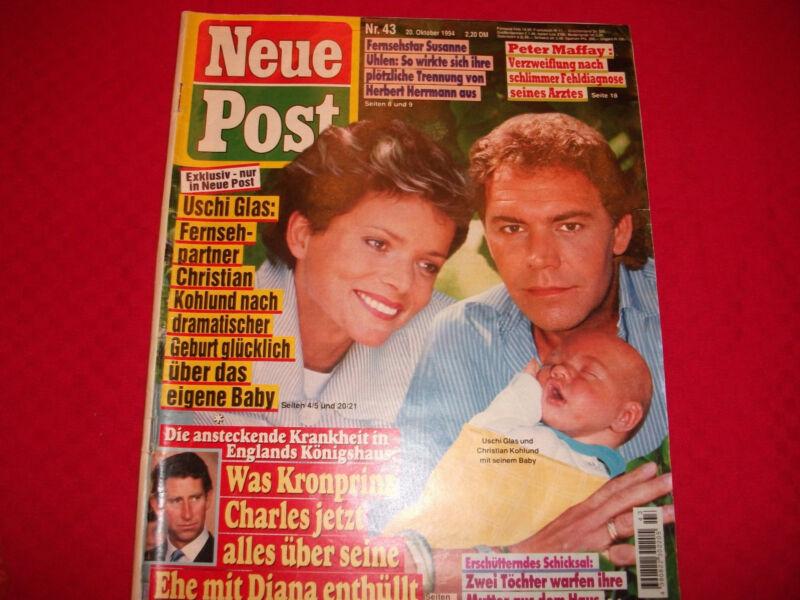 9 Neue Post 1994 Nr. 43 Uschi Glas Christian Kohlund Peter Maffay