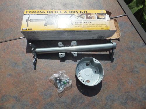 NOS Hubbell Raco No. 936 Heavy Duty Ceiling Brace & Box Kit - Fans Chandeliers +