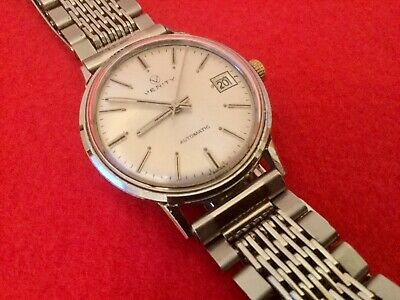 VINTAGE 60s VERITY AUTOMATIC GENTS WATCH  STAINLESS STEEL WATCH SWISS MADE 308C