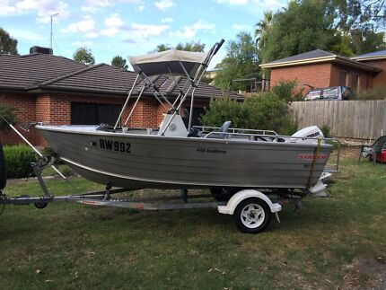 2009 Stacer 449 seahorse with 50hp evinrude etec