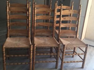 Bent ladder back chairs
