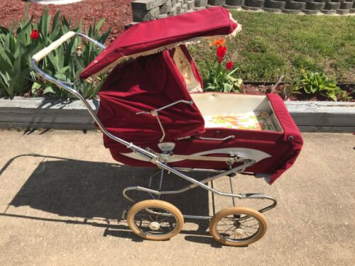 Perego Vintage Convertible Baby Stroller Red & White Good Cond Pickup!