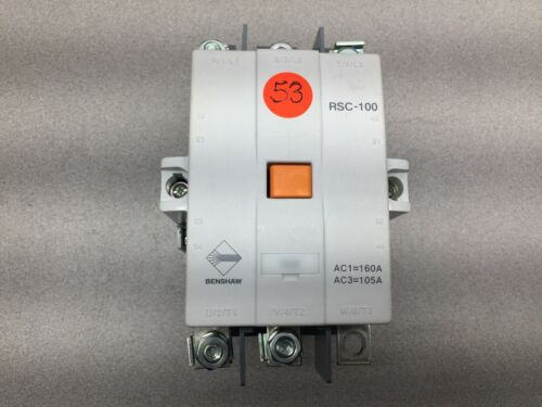 USED BENSHAW 100-240V COIL 105AMP CONTACTOR RSC-100