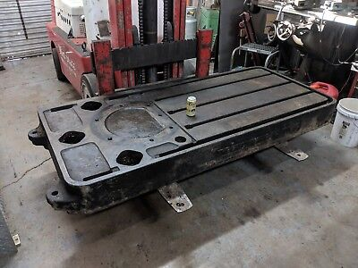 Cast Iron Welding Table Fixture Plate T Slot Heavy Flat37.5 X 85 3400 Lbs