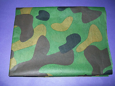 ARMY CAMOUFLAGE DPM CAMO BIRTHDAY WRAPPING PAPER 3 x LARGE SHEETS 20x30 - Camouflage Wrapping Paper