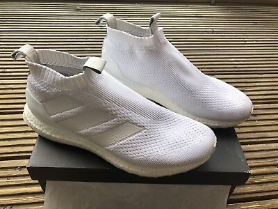 Used Adidas A16+ ultraboost Triple White Size 9
