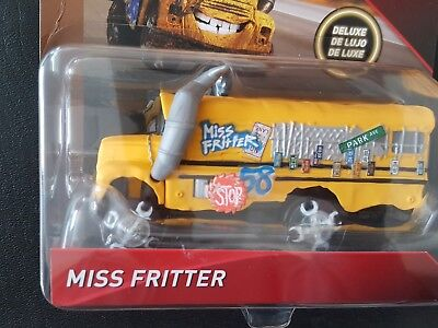DISNEY PIXAR CARS MISS FRITTER THUNDER HOLLOW DELUXE 2018 SAVE 6% GMC