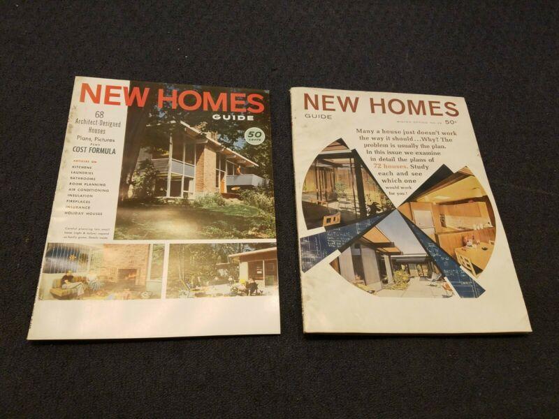 Lot Of 2 Vintage Mid Century Modern Architectural NEW HOMES Guide Home Plans MCM