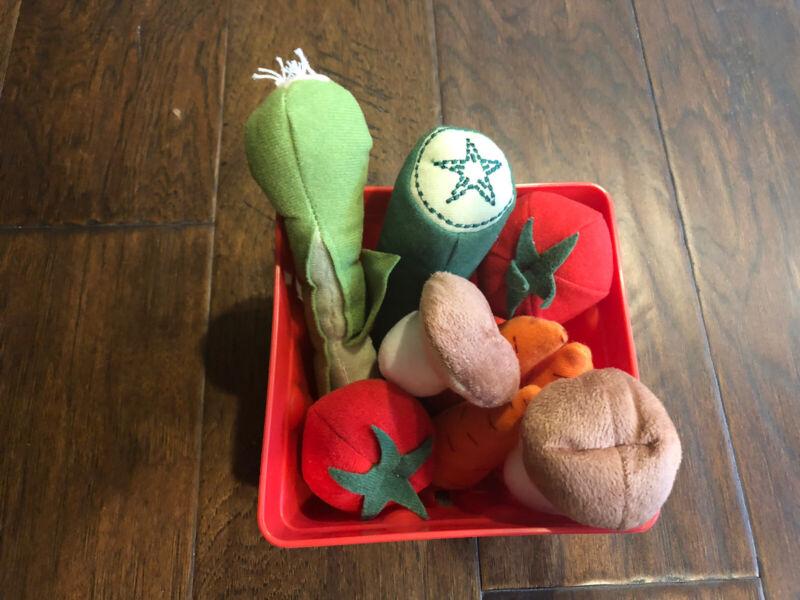 Felt Vegetables In Crate