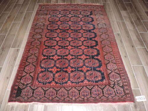4x6ft. Handmade Antique Tekke Bokharra Wool Rug