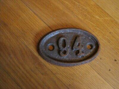 genuine antique vintage cast iron door house train number cottage no 94