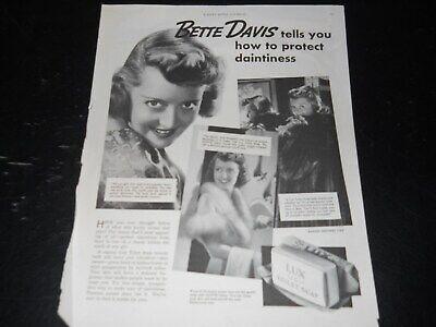 LUX Soap~Bette Davis~Mutiple Images~Ladies Home Journal~1937 Vintage Print Ad A2