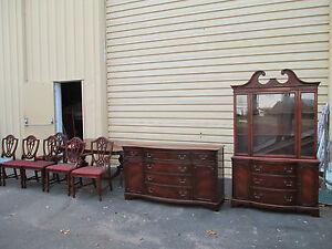 51418 Antique Bernhardt 9 PC Mahogany Dining Room Set