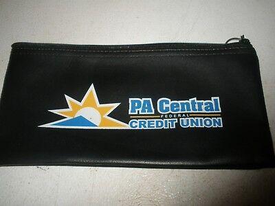 "Bank Zipper Money Deposit Bag PA CENTRAL FEDERAL CREDIT UNION 10.5"" X 5.5"""