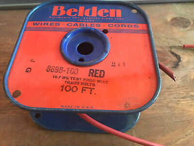 10 Foot Belden 8898 18 Awg Test Prod Wire 10000 Volts Test Lead Red