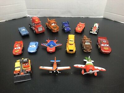 Disney Pixar Cars And Planes Lot Of 15 Diecast And Plastic Read Description