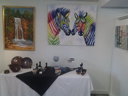Art /pottery and silk exhibition Coolangatta Gold Coast South Preview