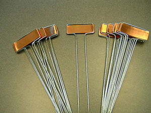 Superior 10 COPPER PLANT MARKERS Garden Labels Seed Stakes HEAVY DUTY AMERICAN MADE  10