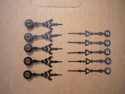 5 pair ~ sets ~ Clock Hands ~ Steampunk Altered Art clock  Repair BLACK