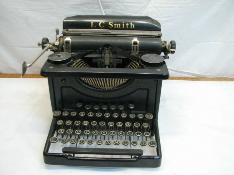 Early L.C. Smith Corona Secretarial Model 8 110 inch Typewriter Works