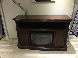 "Electrical fire place with storage  54""W 35""H 18"" D"