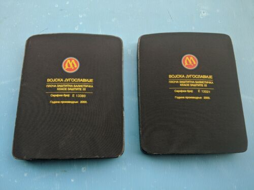 SERBIA Army Military Protective Balistic Body Plates