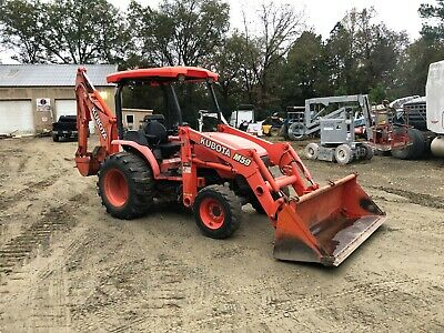 Kubota M59 Backhoe Tractor Loader 4x4 Hydro Trans Great Machine