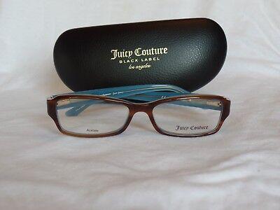 New Women's Juicy Couture Eyeglass Frame JU 145 Havana/Blue 52-15-135