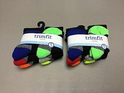 NWT Toddler's Boy's Trimfit Crew Socks Shoe Size 4-8.5 Black Multi 12 Pair #592P - Crew Trim Fit Crew Socken