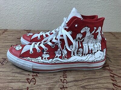 Chuck Taylor Converse High Sz 12 Aids Awareness JoinRed (Product) Red All Star - Converse Merchandise