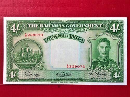 1936 BAHAMAS 4 SHILLINGS BANKNOTE