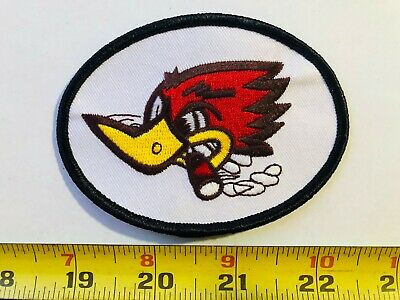 VINTAGE patch woodpecker NASCAR cigar THRUSH Mufflers racing oil gas car OG