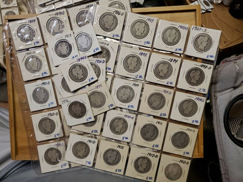 Barber half dollar lot 47 total. Diff dates and mint marks! Collection Jumpstart