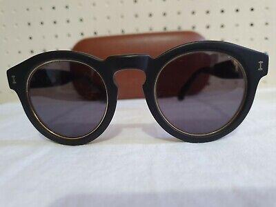 Illesteva Leonard Ring C1 Sunglasses Matte Black 46-23