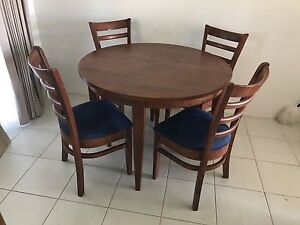 Extendable Dining Table with 4 chairs Wantirna Knox Area Preview