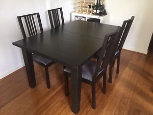 Dining table and chairs (x4) Lane Cove North Lane Cove Area Preview