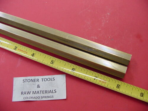 "2 Pieces 5/16"" C360 BRASS HEX BAR 8"" long New Lathe Bar Stock .312"" 1/2 Hard"