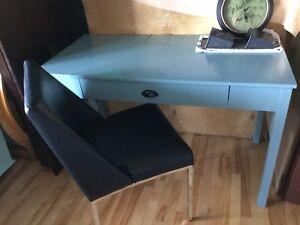Blue grey nautical desk