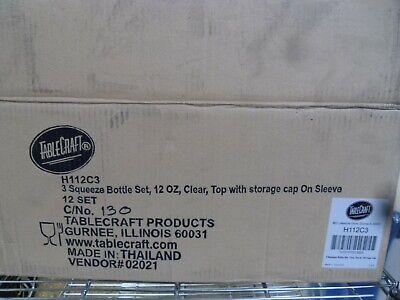 Tablecraft Squeeze Bottles 3 Per Set 12oz - 12 Sets 36ea Bbq Ketchup Mustard