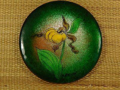 Декоративные тарелки GREEN METAL TRINKET DISH