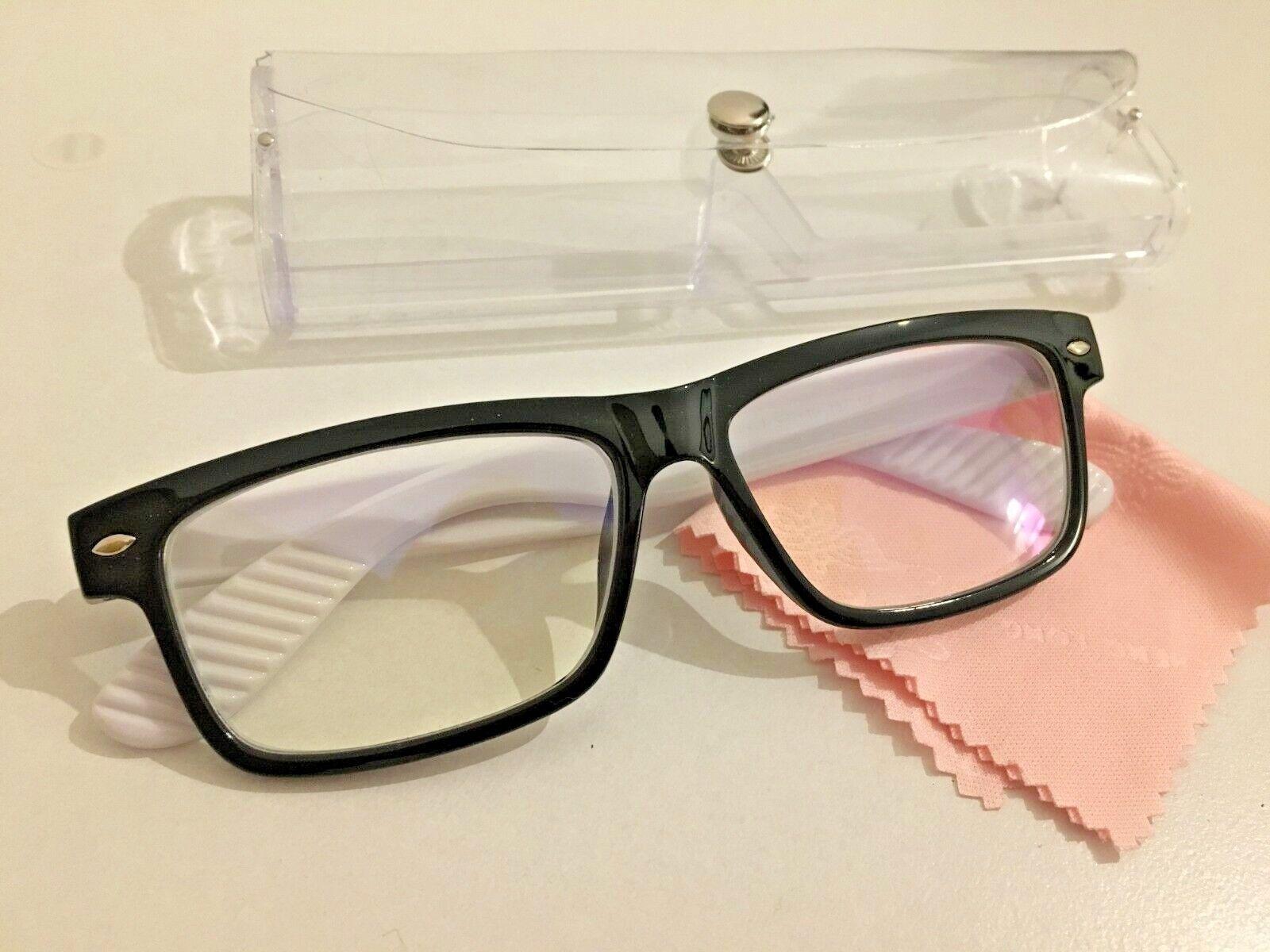 Brille Kurzsichtig RAY Putztuch Farbe Weiß Stärke Fernbrille Modern Etui Dioptri