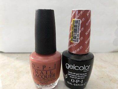 OPI GELCOLOR + MATCHING GEL POLISH SCHNAPPS OUT OF IT! (NL G22/GC G22)
