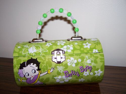 BETTY BOOP TIN PURSE BEADED HANDLE NWT BOX COMPANY 2006 FREE SHIPPING RARE