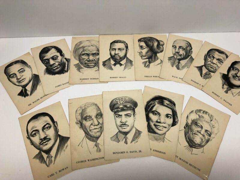 1970 33 EDU cards FAMOUS BLACK PEOPLE in America African-American Flash Cards