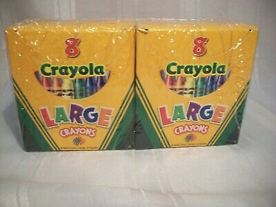CRAYOLA LARGE CRAYONS, 12 EA BXS, 8 CRAYONS PER BOX, NON TOXIC #52-0080 - Non Toxic Crayons