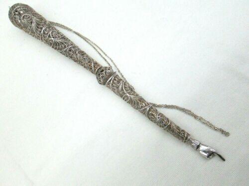 Sterling Silver Torah Yad Pointer Yemenite Filigree Fine Handmade Vintage