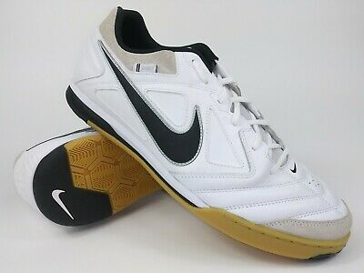 new arrivals a30b2 ccac5 Nike Men Rare Nike5 Gato LTR 415123 101 White Black Indoor Soccer Shoe Size  12.5
