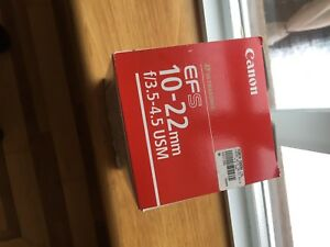 New Canon EFS 10-22 3.5-4.5 USM. NEW In box.