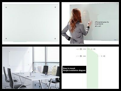 GLASS DRY ERASE BOARD-FROSTED- 40X32 INCHES